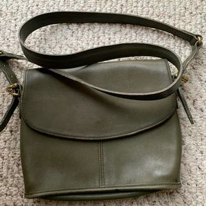 Vintage Coach Army Green Messenger Bag